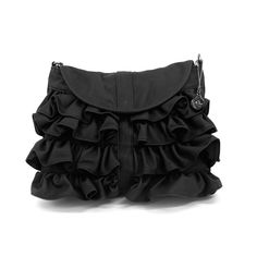 Big Buddha Ruffle Bag from LittleBlackBag.com :: Ruffle :: Black :: Handbag ::