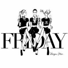 Megan Hess Illustration - Friday