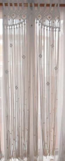 cortina macramé cortinaje hilos polipropileno macramé