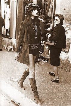 hot pants and suede boots