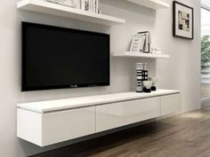 Unique Ideas Can Change Your Life: Floating Shelf Under Mounted Tv Bedrooms floating shelves closet bookshelves.Floating Shelves Bar House how to build floating shelves. Living Room Shelves, Living Room Storage, New Living Room, Living Room Furniture, Tv Furniture, Furniture Websites, Furniture Movers, Bedroom Storage, Cheap Furniture