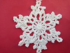 VERY EASY Сrochet snowflake 2 Tutorial - YouTube