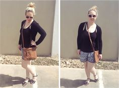 Casual Patterned Shorts #style #fashion #outfit #ootd #fashionblog #fblogger #fblog #fashionblogger #outfitidea