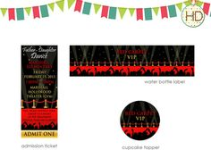 Red Carpet Event Ticket, Hollywood Event Ticket, Hollywood Party, Red  Carpet Party On Etsy, $12.00   Red Carpet Invitations   Pinterest    Teppiche, ...