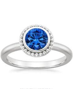 18K Gold Sapphire Juliet Ring