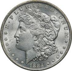 1884-1886 Morgan Silver Dollar Extremely Fine