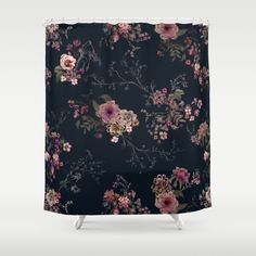 Buy Shower Curtains featuring Japanese Boho Floral by Casey Saccomanno. Made from 100% easy care polyester our designer shower curtains are printed in the USA and feature a 12 button-hole top for simple hanging.