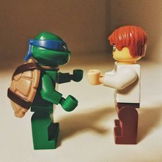 They were #kungfu fighting #tmnt #ninjaturtles #legos #badhairday