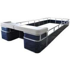 Our Sundeck Package comes complete with everything you need to replace your outdated fence with new. Package includes two Sun Deck U style corners on each side, with a wide package) or a wide package) in between the U styl. Pontoon Furniture, Boat Furniture, Pontoon Boat Parts, Pontoon Boats, Pontoon Stuff, Boat Battery, Boat Storage, Storage Ideas, New Panel