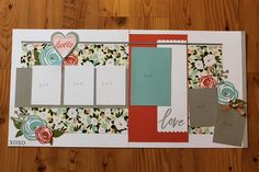 CTMH Hello Lovely two page layout by April Coats, CTMH Consultant.