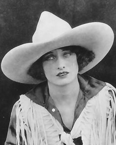 Vera Mcginnis, rodeo queen and horseback rider extraordinere.The best hat! .http://www.cowgirl.net/home/vera-mcginnis-1895-1990/