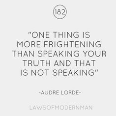 Audre Lorde was a Caribbean-American writer and civil rights activist. The Words, Audre Lorde Quotes, Favorite Quotes, Best Quotes, Words Quotes, Sayings, Say More, Thought Provoking, Beautiful Words