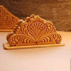 Кухня ручной работы. Ярмарка Мастеров - ручная работа. Купить Салфетница резьба по дереву. Handmade. Бежевый, дерево липы