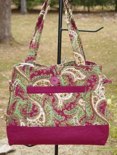 Quilted Bag Red Paisley