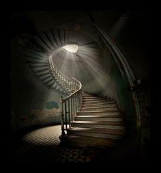 L'escalier tournant...