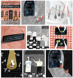 A Day in the Life of a Chef - Katrina Whitelaw   illustration & design