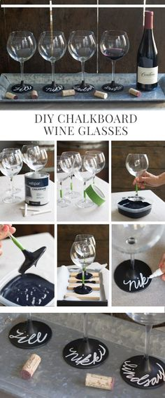 Wine Glasses - cadeau - coupe tableau noir