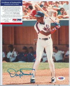 6bfae9ddf3c52f Daryl Strawberry New York  Mets Signed 8x10 Photo Psa dna Authentic Auto  Cert from  70.0