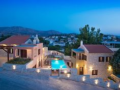 3 stone-built, new (Sep '15), two storey independent villas with swimming pool   Holiday Rental in Festos from @HomeAwayUK #holiday #rental #travel #homeaway
