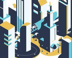 """Popatrz na ten projekt w @Behance: """"Smart Dubai"""" https://www.behance.net/gallery/53487455/Smart-Dubai"""