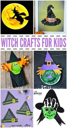 These scary good witch crafts for kids are the perfect thing to get your kids in the Halloween spirit. Here are our favorites! Cute Kids Crafts, Halloween Crafts For Kids, Crafts For Kids To Make, Halloween Activities, Halloween Projects, Toddler Crafts, Craft Activities, Halloween Themes, Halloween Fun