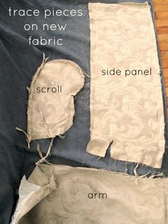 Reupholstering for dummies: Easy to follow, step-by-step guide to reupholstering a couch using a canvas drop cloth.