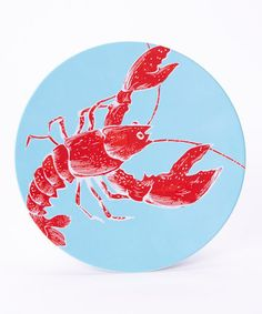 Look at this #zulilyfind! Red Lobster Dinner Plate #zulilyfinds