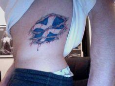 that is a cracken scottish tattoo wow tattoos pinterest rh pinterest com scottish canadian flag tattoo scottish flag tattoo black and white