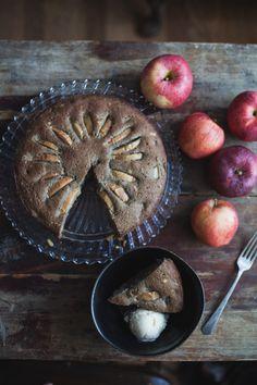 Gluten Free Chai Apple Cake with Pinenuts (Dairy Free)