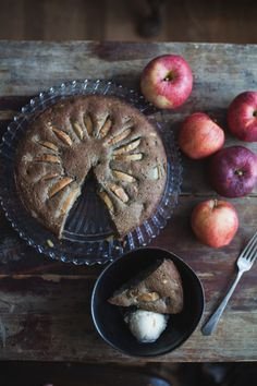 Gluten Free Chai Apple Cake with Pinenuts (Dairy Free)