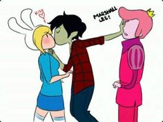 adventure time marshall lee and fionna kiss - Google Search