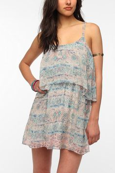 Ecote Double Layer Chiffon Festival Dress .. at Urban Outfitter