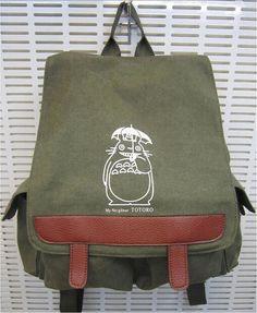 Hayao miyazaki My neighbor Totoro Backpack Bag van Animebag op Etsy, $36.99