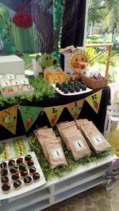 Fiesta plantas vs zombies                                                       … #plantasdecoracion