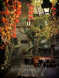 Restaurant Courtyard, Würzburg, Germany