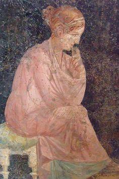 Roman-era Fresco Excavated From Stabiae -- Century BCE - Century CE Roman Artifacts, Ancient Artifacts, Roman History, Art History, Ancient Rome, Ancient History, Rome Painting, Pompeii And Herculaneum, Empire Romain