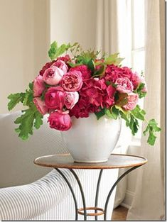 Floral Arrangement - Peonies smell so great.