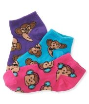 Kids' 3-Pack Monkey Toss Ped Socks - PS From Aéropostale®