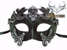 Mens Masquerade Mask for Men Roman Gladiator Thor - Masquerade Ball Mask for Man from MasquerademaskStudio on Etsy. Silver Masquerade Mask, Masquerade Wedding, Venetian Masquerade, Venetian Masks, Masquerade Ball, Halloween Masquerade, Roman Fashion, Men's Fashion, Cool Masks