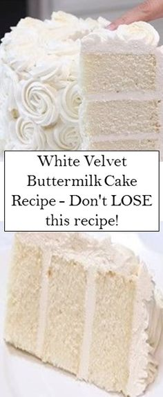 White Velvet Buttermilk Cake Recipe – Don't LOSE thіѕ recipe! Baking Recipes, Cake Recipes, Dessert Recipes, Just Desserts, Delicious Desserts, Brownie Cake, Brownies, Just Cakes, Let Them Eat Cake