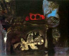 """Antoni Clavé Sanmartí (1813 - 2005). """"La tache rouge, 1962"""". Óleo y pastel sobre papel. 62 x 86 cm. Colección particular. París. Francia."""