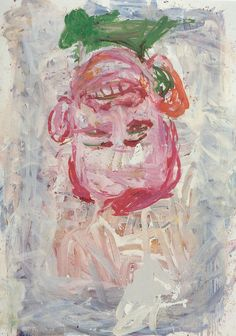 Georg Baselitz, Selbstportrat I on ArtStack #georg-baselitz #art