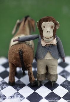 The Skating Monkey and his pal by Swedish photographer Rebecka Ryberg Skött. via Vintage Fairy Tales