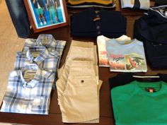 greens, blues and neutrals for big boys