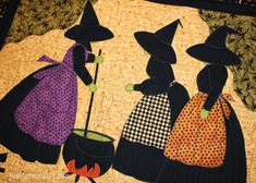 Witch's Broom Quilt Pattern | With several triangles leftover after getting a little over zealous ...