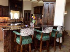 Turquoise rustic kitchen #rusticdecor #westerndecor