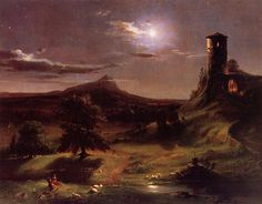 Cave to Canvas, Thomas Cole, Moonlight, 1833-34