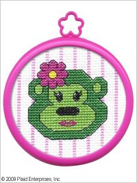 Bucilla ® My 1st Stitch™ - Counted Cross Stitch Kits - Mini - Monkey. Beginner stitchers can create a quick and easy project. #crafts #knitting #plaid crafts