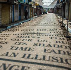 Sunlight Casts Shadows of Phrases Exploring Theories of Time in a Street Art Installation by DAKU (Colossal) Goa, Art Installation, Banksy, Urban Poetry, Poetry Art, Art Public, Art Et Design, Urban Design, Urban Intervention