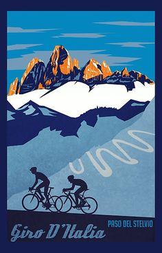 Afbeeldingsresultaat voor vintage poster biking giro d'italia